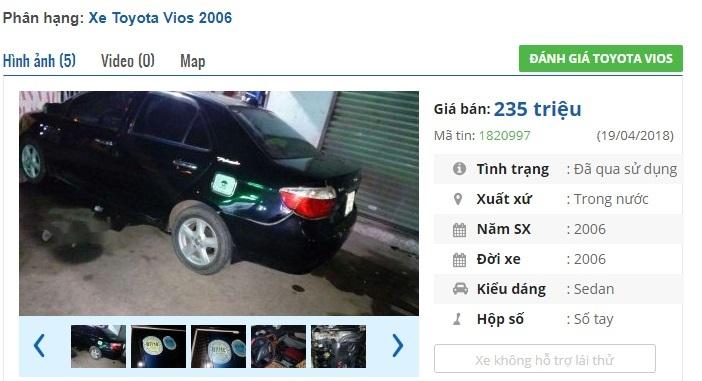 Những chiếc ô tô Toyota cũ này đang rao bán giá 200 triệu tại Việt Nam