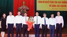 Nhân sự mới Thanh Hóa, Nghệ An