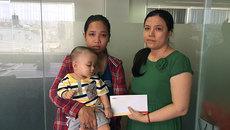 Bạn đọc góp tiền giúp bé trai nguy cơ bị mù vĩnh viễn