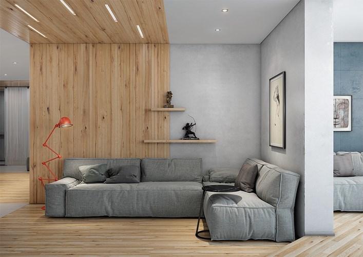 Nhà đẹp,trang trí nhà,phòng khách,nội thất xám