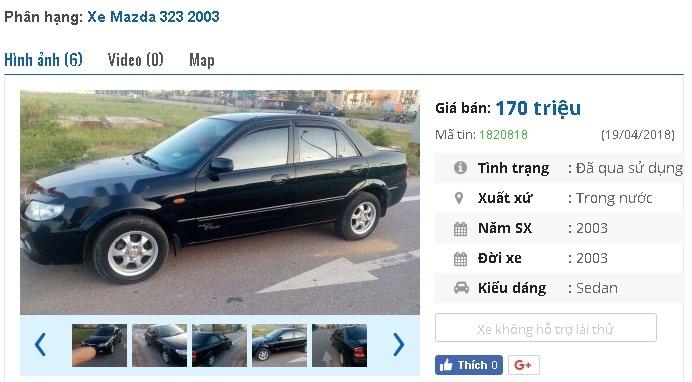 Những chiếc ô tô Mazda cũ này đang rao bán giá 200 triệu tại Việt Nam