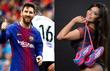 Hoa hậu vòng ba cổ vũ Messi giành Cúp Nhà Vua
