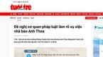 Tuổi Trẻ lên tiếng vụ nghi xâm hại tình dục của nhà báo Anh Thoa