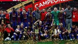 Vùi dập Sevilla, Barca lần thứ 30 đoạt Cup Nhà Vua