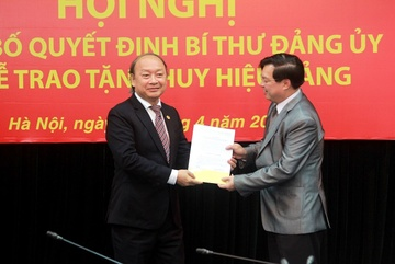 Công bố quyết định Bí thư Đảng ủy cơ quan Ban Tuyên giáo Trung ương