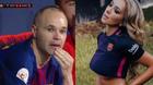 Fan nữ Barca khóc chia tay đội trưởng Iniesta
