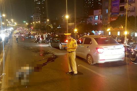 tai nạn trên cầu vượt Ngã Tư Sở