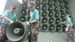 Cận cảnh dàn loa khủng Hàn Quốc dùng chống Triều Tiên