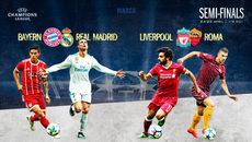 Xem trực tiếp lượt đi bán kết Champions League ở đâu?