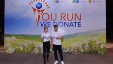 Công Vinh, Bảo Thy chạy bộ gây quỹ đưa trẻ nghèo đến trường