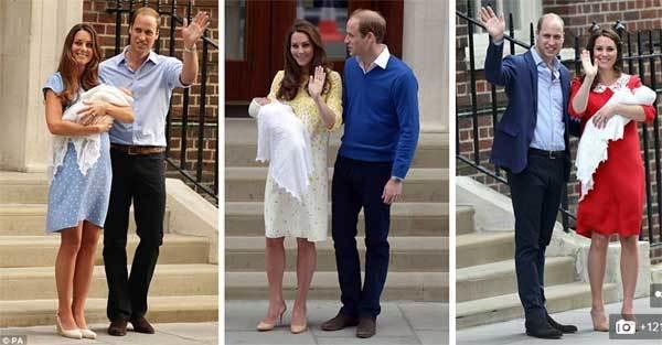 Ngắm thiên thần mới chào đời của hoàng tử William và Kate