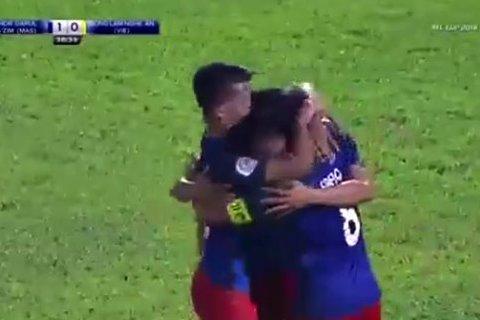 Johor Darul 2-0 SLNA: Phút 39