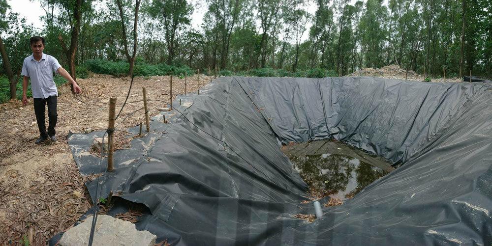Hãi hùng bể phốt khổng lồ lộ thiên trong công ty môi trường