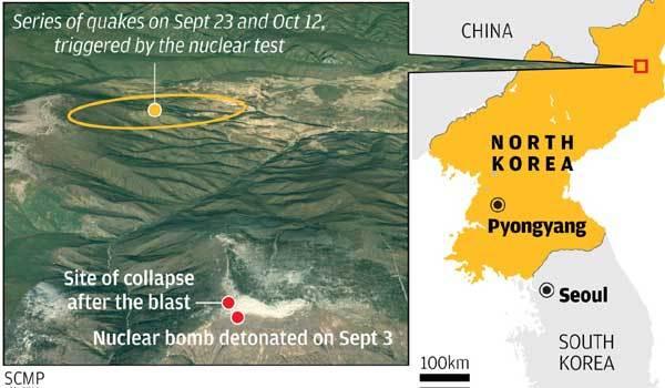 Ngọn núi trên bãi thử hạt nhân Triều Tiên đã bị sập?