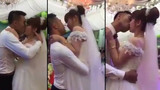 Cô dâu và chú rể hôn nhau suốt 3 phút gây choáng