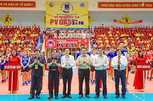 Khai mạc giải bóng chuyền vô địch quốc gia PV GAS 2018