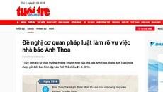 Công an điều tra vụ nghi xâm hại tình dục liên quan nhà báo Anh Thoa