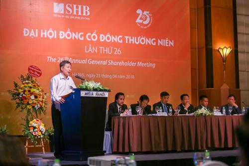 Phát biểu chỉ đạo tại Đại hội, ông Trần Quốc Hùng, Phó Cục trưởng Cục I Thanh tra giám sát, Ngân hàng Nhà nước Việt Nam ghi nhận và đánh giá cao những kết quả hoạt động ấn tượng của SHB trong năm 2017