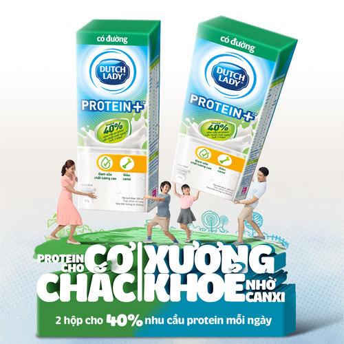 Sữa Cô Gái Hà Lan Protein+TM giúp bổ sung protein