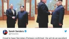 Nhà Trắng lần đầu công bố ảnh Kim Jong Un và tân ngoại trưởng Mỹ