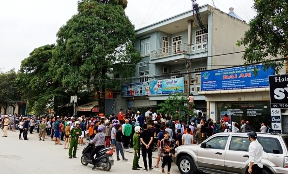 Công an kiểm tra ngôi nhà của 'Hội Thánh đức chúa trời' ở Thanh Hóa