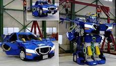Xem ô tô biến hình thành robot như trong phim bom tấn
