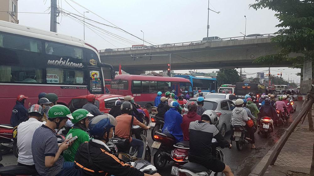 ùn tắc giao thông,ùn tắc,Hà Nội,nghỉ lễ