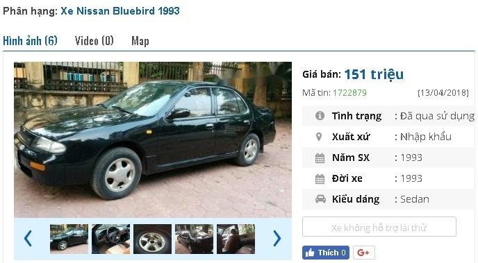 Những ô tô Nissan cũ rao bán tầm giá 100 triệu tại Việt Nam