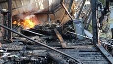 Hỏa hoạn thiêu rụi quán cà phê cùng 10 xe máy cổ ở Đà Lạt
