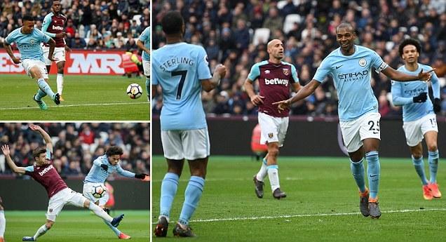 Vùi dập West Ham, Man City đạt cột mốc 100 bàn thắng