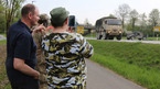 Xem xe tăng Mỹ diễu hành trên đất Đức
