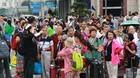 Kẹt cứng khách Trung Quốc tại cửa khẩu Móng Cái dịp nghỉ lễ