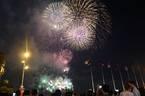 Pháo hoa rực sáng trên bầu trời Sài Gòn mừng lễ 30/4