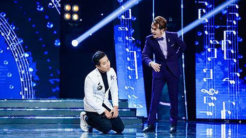 Huỳnh Lập tát MC trên sân khấu Tuyệt đỉnh song ca nhí