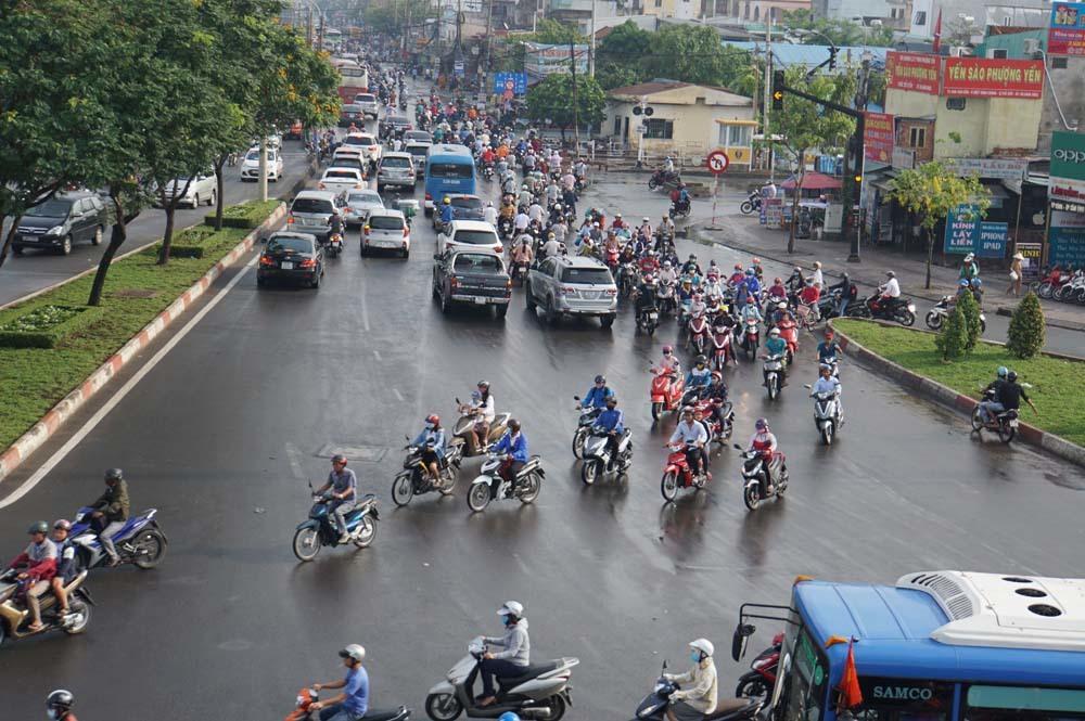 kẹt xe,ùn tắc,lễ 30/4,Sài Gòn