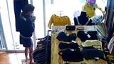 Nữ ninja lead lao thẳng xe vào shop quần áo