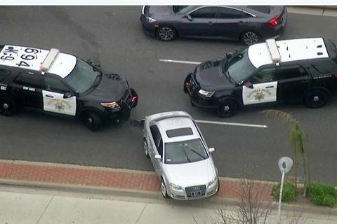 Xem màn rượt đuổi xe Audi ăn trộm như phim hành động của cảnh sát Mỹ
