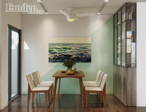 Ngắm căn hộ với những mảng màu đơn giản mà đẹp mê ly đến từng chi tiết