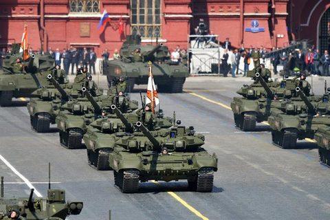 diễu binh Nga