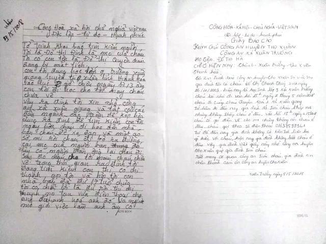 Hai nữ sinh lớp 9 'mất tích' bí ẩn