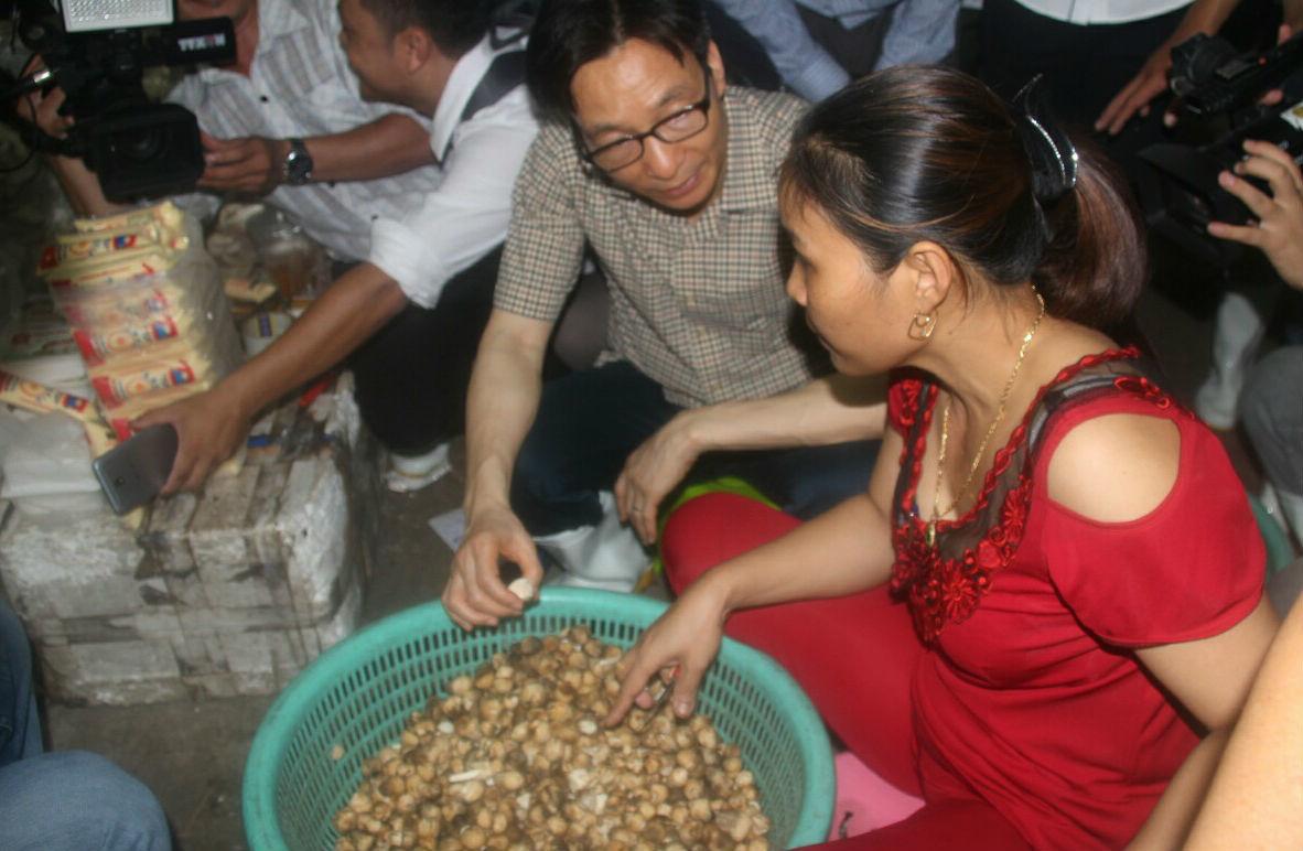 Phó Thủ tướng Vũ Đức Đam,an toàn thực phẩm,Phạm Khánh Phong Lan,chợ bình Điền