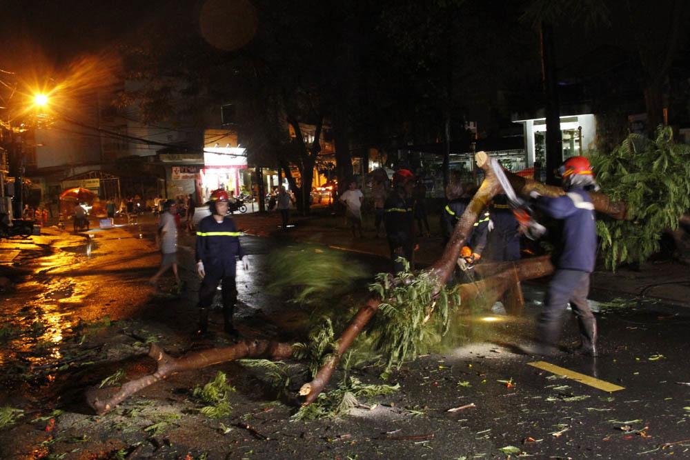Cây đổ trong mưa lớn, hàng trăm hộ dân Sài Gòn sống trong bóng tối