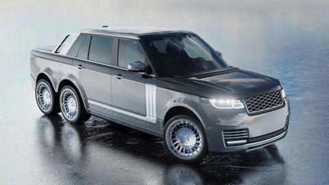 Độc đáo xe độ sáu bánh Range Rover