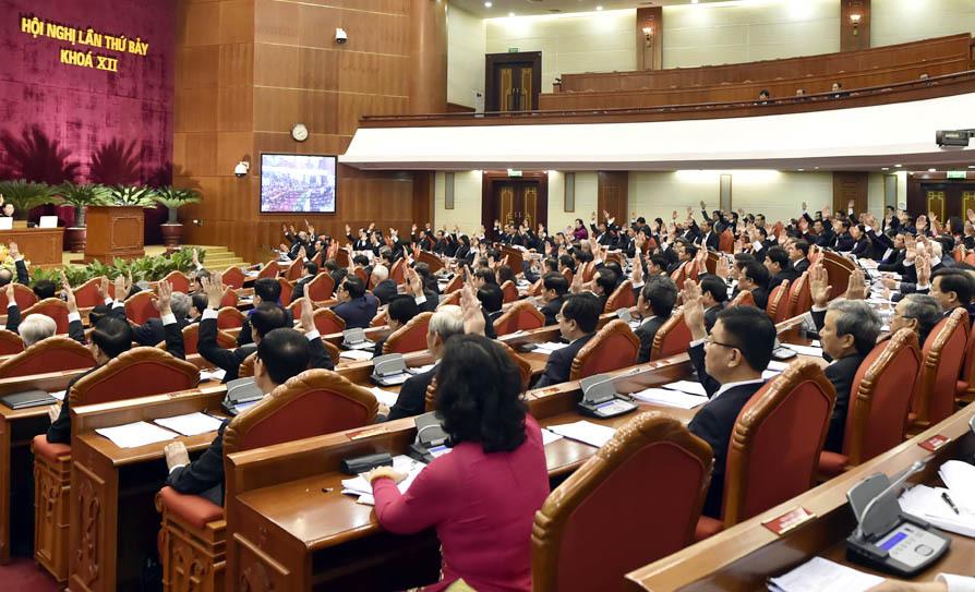 Hội nghị Trung ương 7,Trung ương 7,Tổng bí thư,Nguyễn Phú Trọng,cải cách tiền lương,cán bộ cấp chiến lược