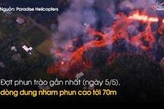 Núi lửa phun trào, 'nhuộm đỏ' đảo thiên đường Hawaii