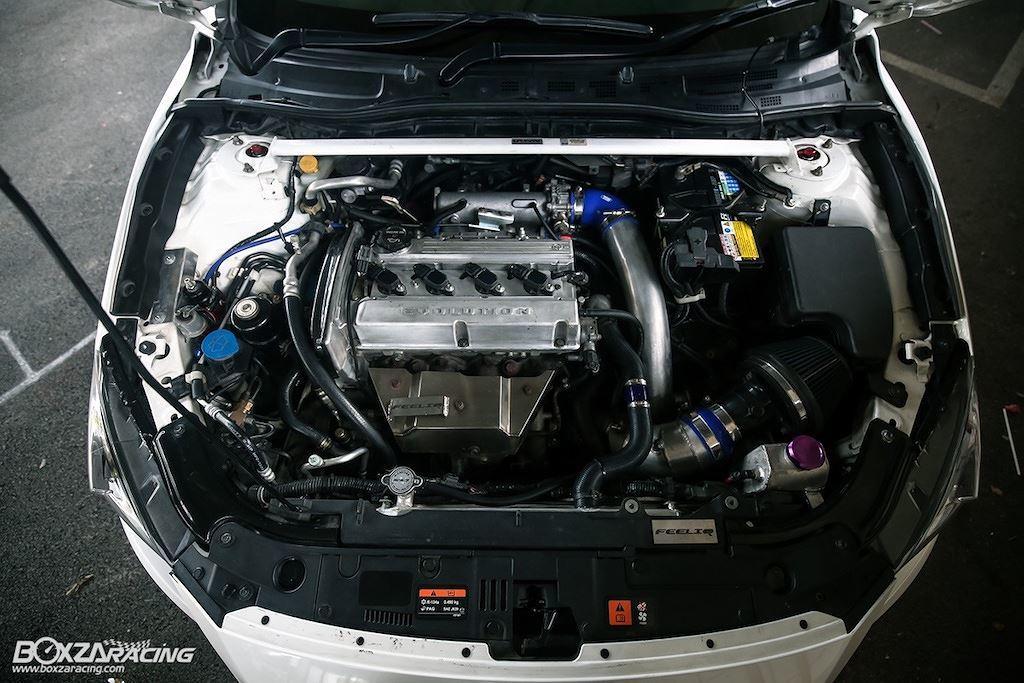 Xe độ Mazda 3 thay máy Mitsubishi mạnh 400 mã lực