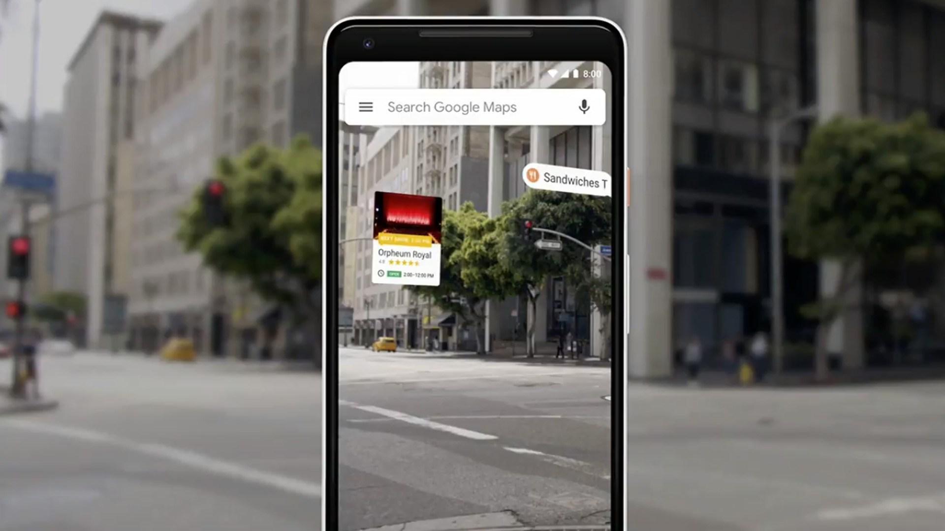 Google Maps thêm tính năng chỉ đường qua camera