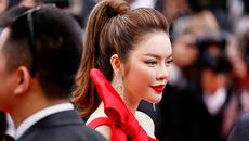Lý Nhã Kỳ váy đỏ nổi bật trên thảm đỏ Cannes
