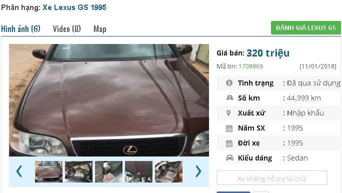 Những chiếc ô tô Lexus cũ này đang rao bán giá 300 triệu tại Việt Nam