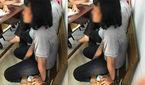 Bé gái 13 tuổi bị công an còng tay đưa về trụ sở